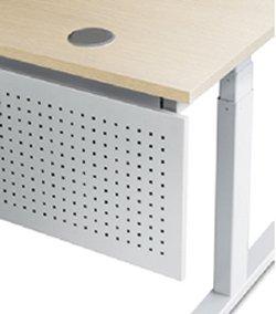 REISS Avaro Steh-Sitz-Tisch Kabeldurchlass in Rund mit Lochblech als Sichtschutz